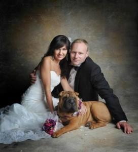 Marcin Mastalerek z żoną na sesji ślubnej