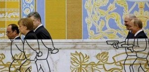 2015 02 15 Putin z rewolwerem za trójka prezydentów