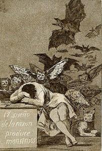 Francisco Goya, gdy rozum zasypia, budzą się potwory