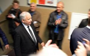 Jarosław Kaczyński w Bielsko Biała 2015 autor Silar Commons Wikimedia