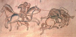 Knights and horses, autor Matthew Paris, public domain