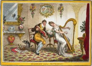 Love 1805-Gillray-Harmony-before-Matrimony