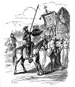Don Quijote Ilustracja Don Quichote z 1848