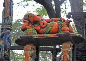 Ganesh lying, Indian God, Wikimedia Commons