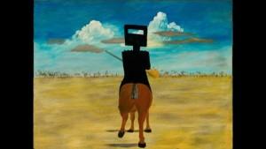 Obraz Ned Kelly, autor Sydney Nolan, Australia