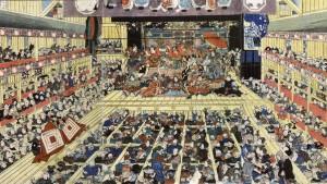 Teatr Kabuki, Odori Keiyo Edo e no sakae, autor Toyokuni Utagawa III