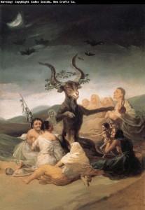 Sabat czarownic The Witch's Sabbath, Francisco Goya
