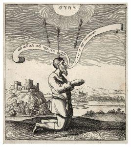Grzesznik klęczący by Wenceslas Hollar, public domair