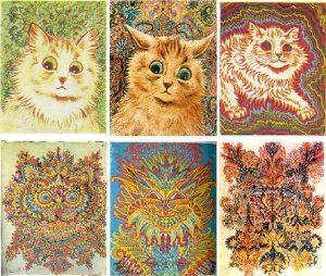 Wain cats 6, by Lous Wain, public domain